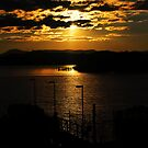 Sunset Lake Burley Griffin Canberra by Kym Bradley