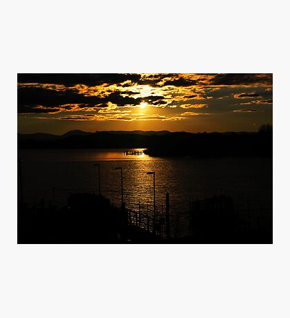 Sunset Lake Burley Griffin Canberra Photographic Print