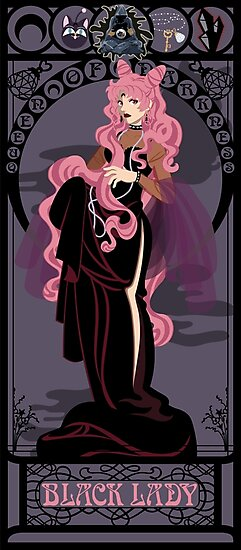 Black Lady Nouveau - Sailor Moon by CptnLaserBeam