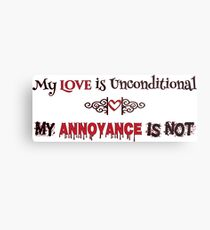 Love and Annoyance Metal Print