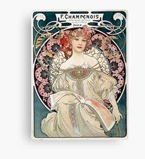 Vintage Alphonse Art Nouveau Poster Canvas Print