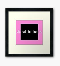 Back to Back Framed Print