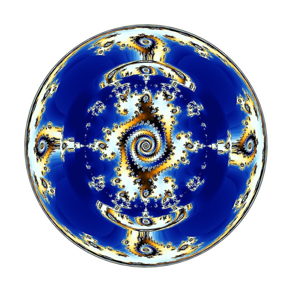 Blue Crystal Ball  by Rupert Russell