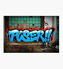 Poser Graffiti At Packard Plant In Detroit Photographic Print