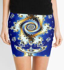 Blue Crystal Ball  Mini Skirt