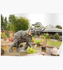 Elephant Fountain - Bicton Gardens Poster