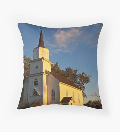 Beaver Creek Church Throw Pillow