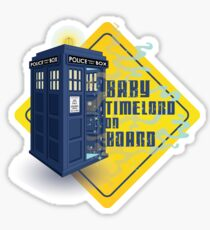 Doctor Who Tardis - Baby Timelord on Board Sticker