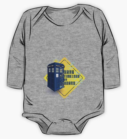 Doctor Who Tardis - Baby Timelord on Board One Piece - Long Sleeve