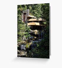 Falling Water by Frank Lloyd Wright Greeting Card