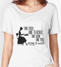 Camiseta ancha para mujer Cita del profesor - Malala Yousafzai