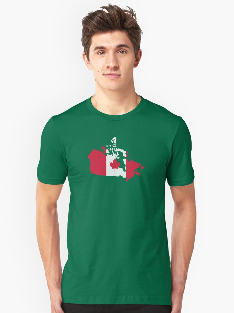 Canada map flag Unisex T-Shirt Front