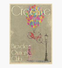 Creative Bicycle Owners Club Photographic Print