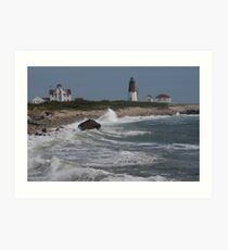 Point Judith Light House and Coast Guard Statiion Art Print