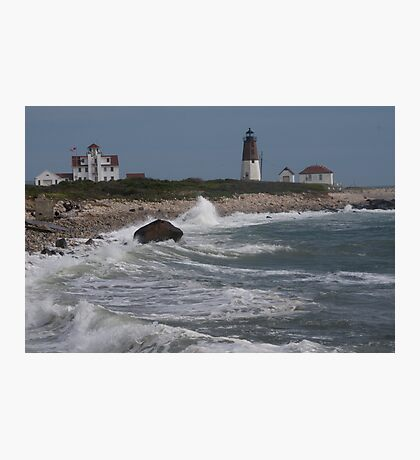 Point Judith Light House and Coast Guard Statiion Photographic Print