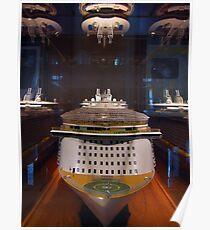 Cruiseship Under Glass  Poster