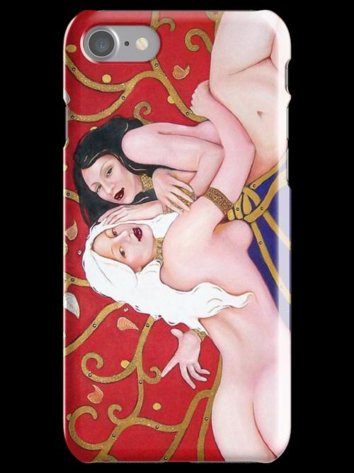 Gemini ~ Cool Original Art Work Inspired By Gustav Klimt, Brett Whitely & Alphonse Mucha iphone 4 4s, iPhone 3Gs, iPod Touch 4g case. by ChrisDuffyArt