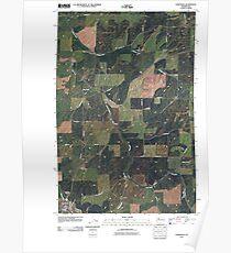 USGS Topo Map Washington State WA Oakesdale 20110401 TM Poster