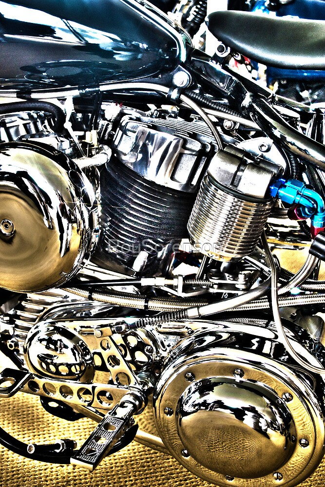 Harley Engine Study by RoySorenson