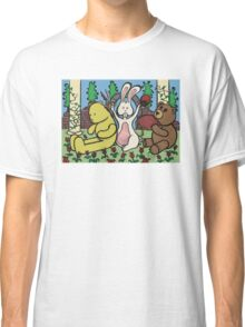 Teddy Bear And Bunny - Coin In The Back Of Yellow Bear's Head Classic T-Shirt
