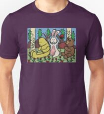 Teddy Bear And Bunny - Coin In The Back Of Yellow Bear's Head T-Shirt