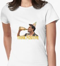 Think Positive Womens Fitted T-Shirt