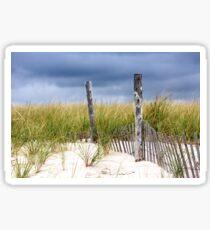Winter Beach Sticker