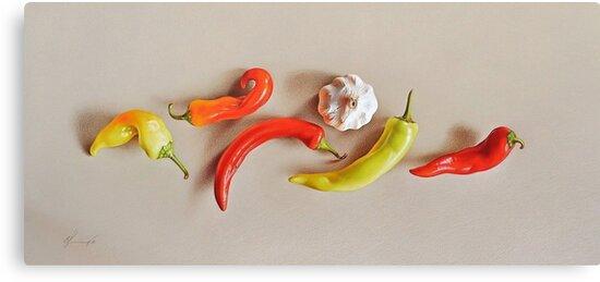 Pepper Dance by Elena Kolotusha