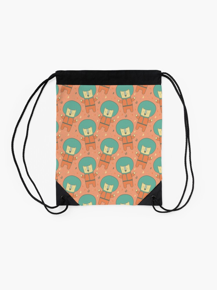Alternate view of Bearly There in Dreamsickle  Drawstring Bag