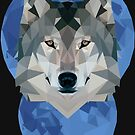 Low Poly Moon + Wolf by CurtisC