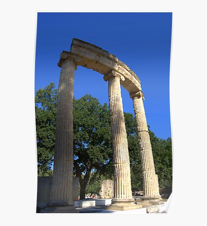 Ruins of the Philippeion, Olympia, Greece Poster