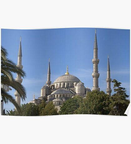 The Blue Mosque, Istanbul (External) Poster