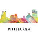 Pittsburgh, Pennsylvania-Skyline WB1 von Marlene Watson