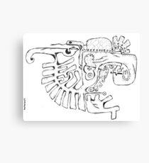 Abstract balck vector animals Canvas Print