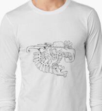 Abstract balck vector animals Long Sleeve T-Shirt