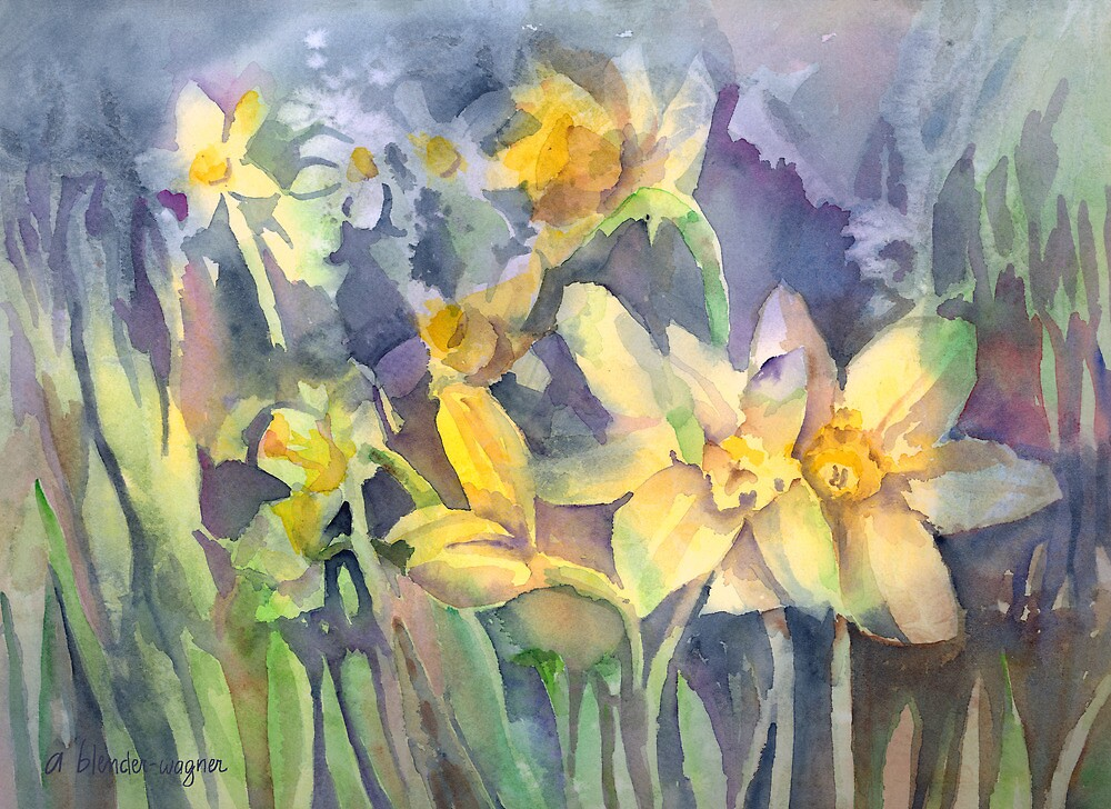 Daffodils by arline wagner