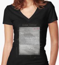 Dear Edith Crawley Women's Fitted V-Neck T-Shirt