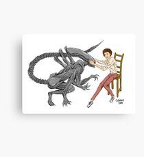 Alien & Sigourney Weaver Canvas Print