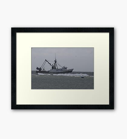 Into Safe Harbor Framed Print