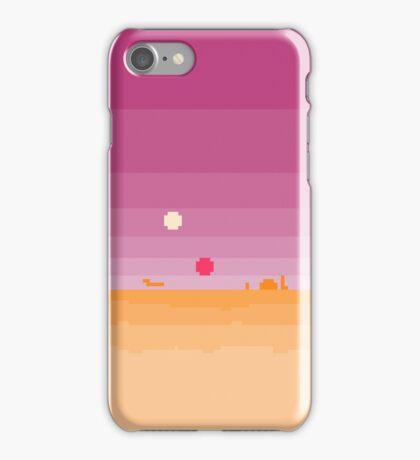 Pixel Tatooine Landscape iPhone Case/Skin