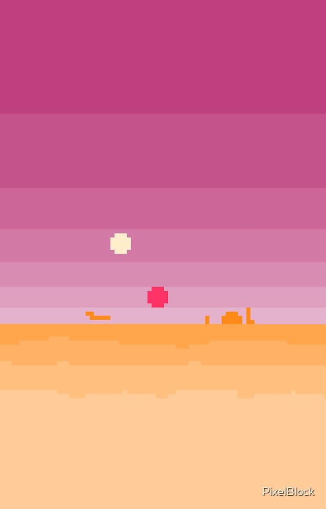 Quot Pixel Tatooine Landscape Quot By Pixelblock Redbubble