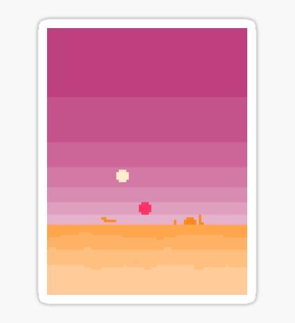 Pixel Tatooine Landscape Sticker