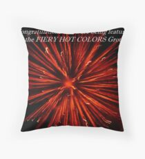 Fiery Hot Colors Banner Throw Pillow
