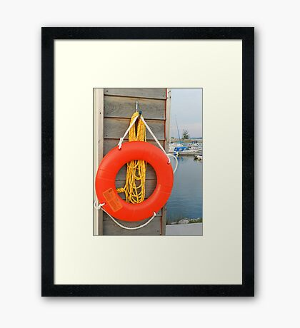Safety first, saving one life at a time...... Framed Print