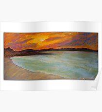 Laguna Bay Sunset Noosa Poster