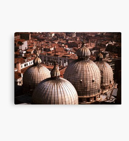 Domes of San Marco, Venice Canvas Print