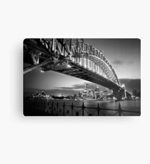 Sydney Harbour Bridge Black & White Metal Print