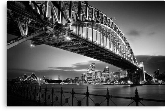 Quot Sydney Harbour Bridge Black Amp White Quot Canvas Prints By