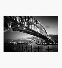 Sydney Harbour Bridge Black & White Photographic Print