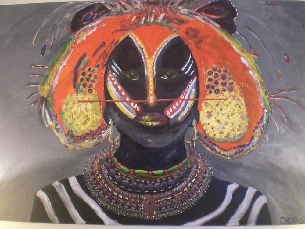 African worrior by Happiness         Desiree